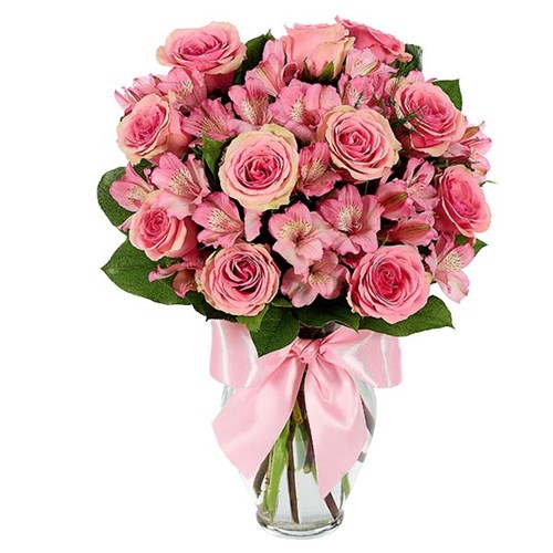 Rose & Alstroemeria Blush flower bouquet for sale for Mother's Day, available at Ingallina's Gifts