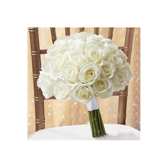 1 800 Flowers All White Roses Bouquet Wild Strawberry And